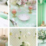 15 színpaletta mentazöld esküvői dekorációhoz